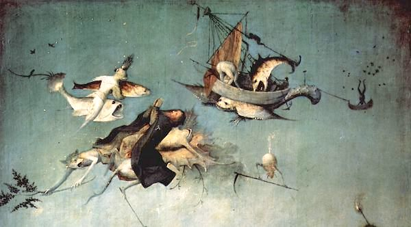 """""""The Temptation of St. Anthony"""" (detail), by Hieronymus Bosch."""