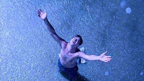 "Tim Robbins as Andy Dufresne, in ""Shawshank Redemption."""