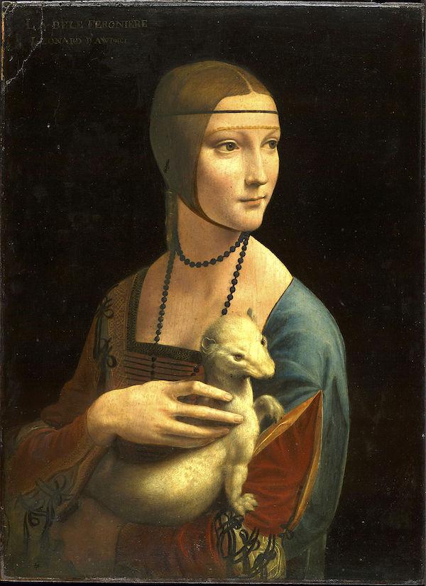 """Girl with an Ermine,"" Leonardo da Vinci, 1483."