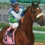"""Barbaro, and Jockey Edgar Prado"" (Painting by Robert Clark)."