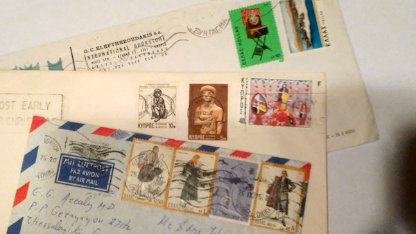 A collection of envelopes: with or without their letters, they say so much.