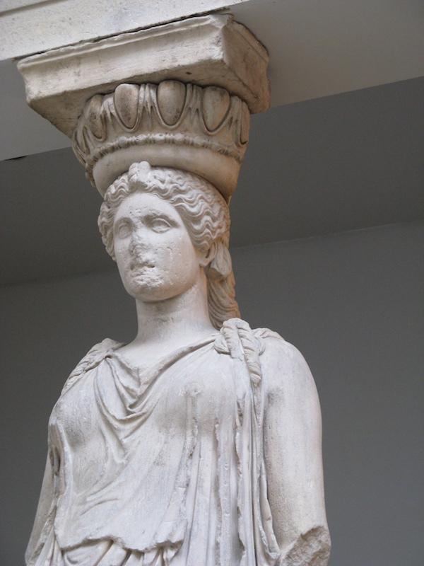 Caryatid, The Erechtheion, Athens, Greece.
