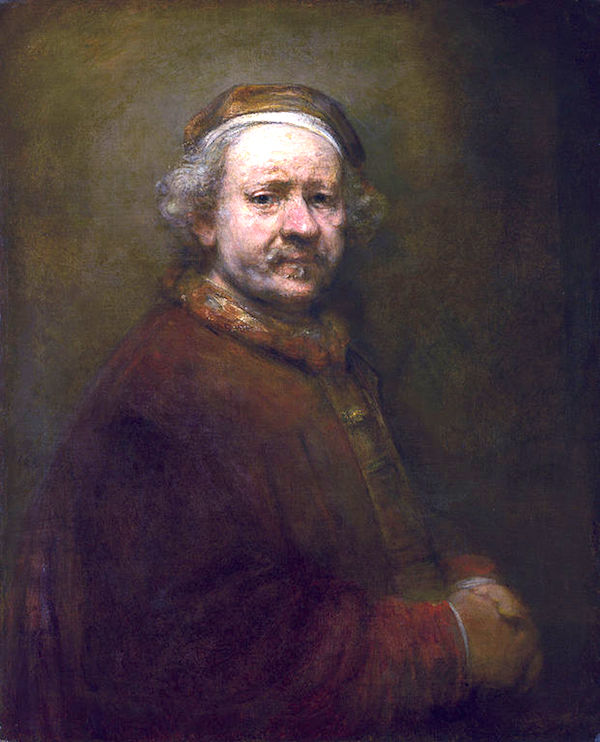 """Self-portrait,"" by Rembrandt (1669), National Gallery, London."