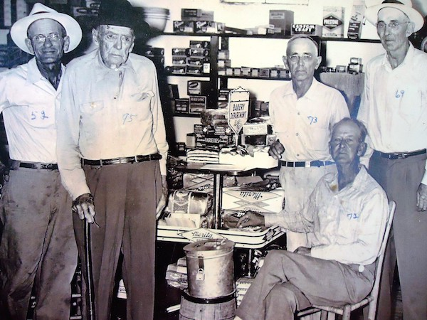 (Third from Right) Lon Schenault Boleman, Age 73.