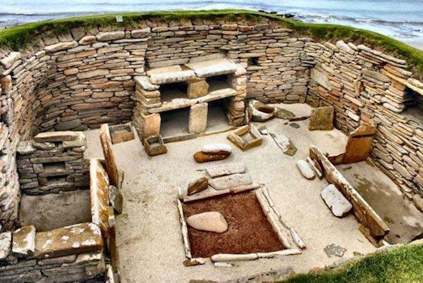 Neolithic Skara Brae, Orkney, Scotland.