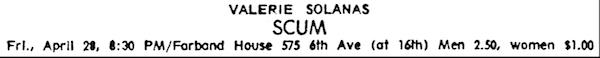 Village Voice Ad, 1967.