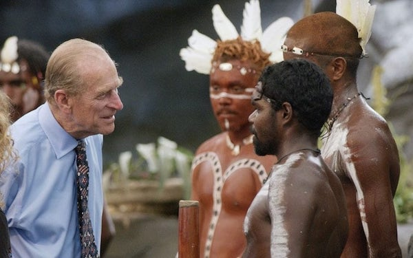 """Prince Philip asked if Aborigines """"still threw spears at each other."""""""