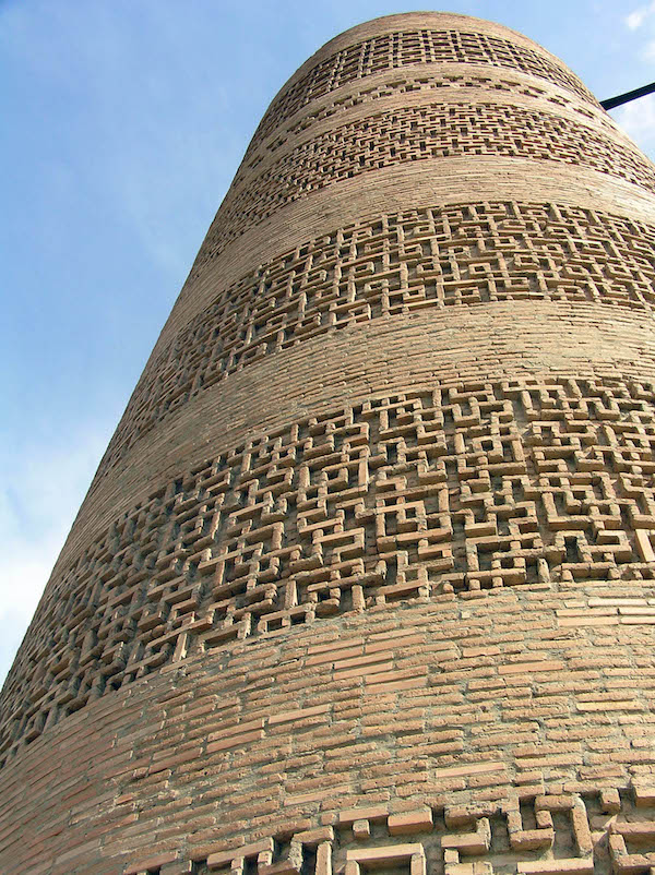 Detail of the Burana Tower brickwork.