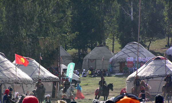 Scenes from the Nomadic Games.