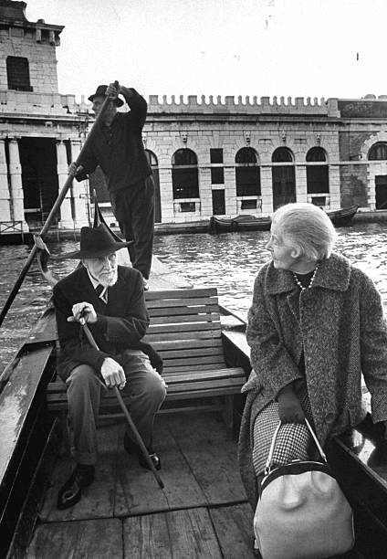 Olga Rudge and Ezra Pound in Venice.