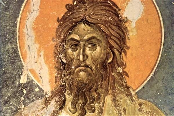 """John the Baptist,"" by the Master of Gračanica, c. 1235 (Wikimedia Commons)."