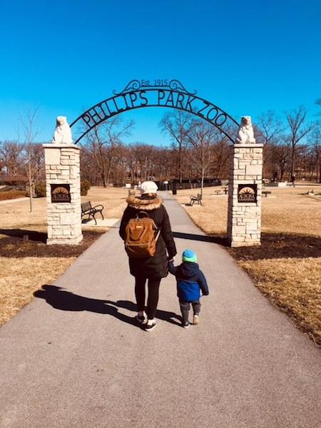 Walking with my guy (Photo by Annie Maffeo.)