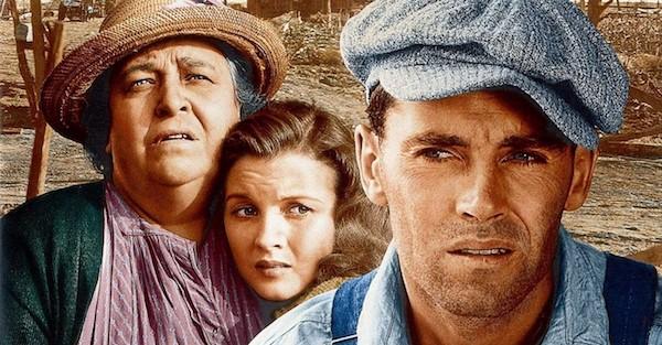 The Joads: Ma, Rose of Sharon, and Tom. (In John Ford's 1940 film of Steinbeck's novel.)