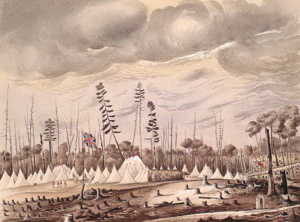 Encampment of the Royal Regiment at London, Canada West, June, 1842.