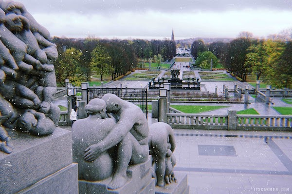 Chilly, wintry Frogner Park.