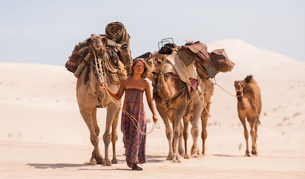 "Mia Wasikowska playing Robyn Davidson in the 2013 film, ""Tracks."""