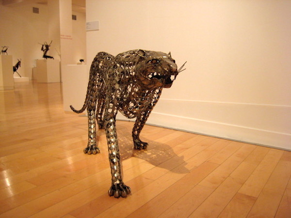 Another view of the leopard at the Benaki Museum.