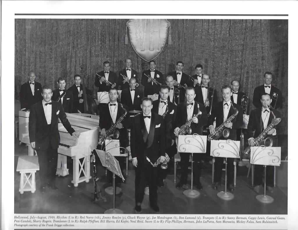 Woody Herman and his Herd, 1946. (Photo: Frank Driggs.)