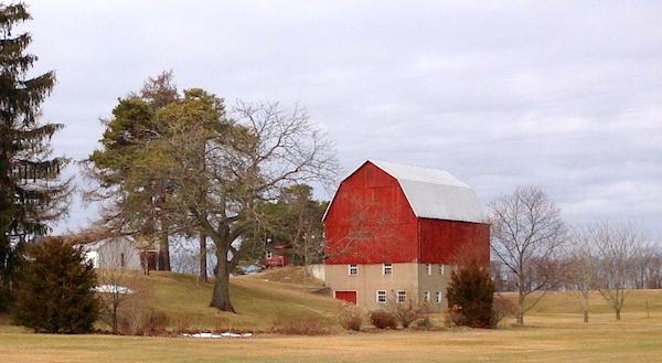 The landmark barn he erected in 1917.