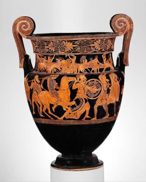 Amazon on horseback, krater c. 450 BC. (Image: Metropolitan Museum, NY, public domain.)