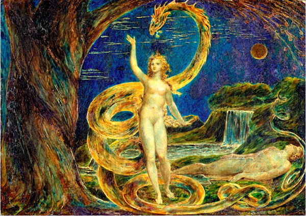"""Eve Tempted by the Serpent,"" by William Blake, c. 1796."