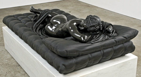 """""""Sleeping Hermaphrodite,"""" Barry X Ball; Private collection."""