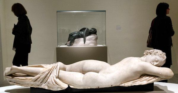 """Sleeping Hermaphrodite,"" Palazzo Massimo alle Terme, Rome."