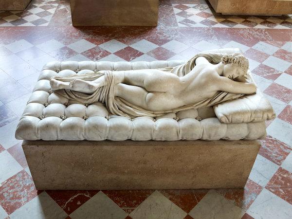 """Sleeping Hermaphrodite."" (Photo: Thierry Ollivier/Musée du Louvre.)"