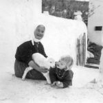 Thia-Ghia and the author, in the early 1960s, on Mykonos.
