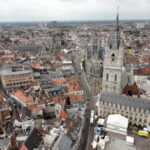 Aerial view of Ghent, Belgium.