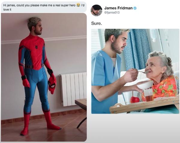 Making a super hero.