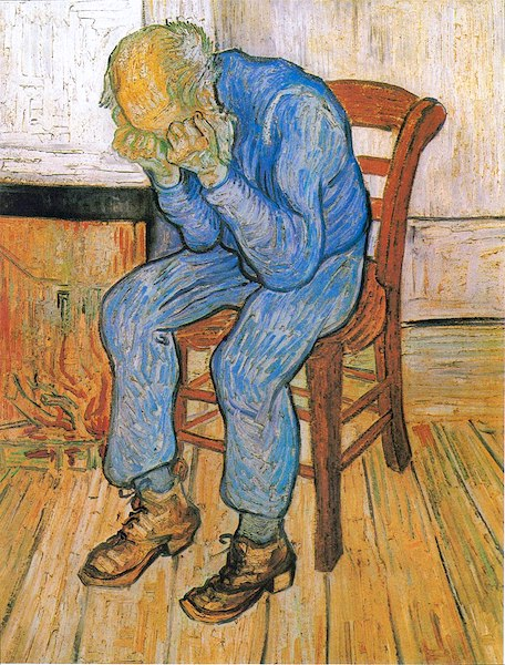 """""""Worn Out: At Eternity's Gate,"""" by Vincent van Gogh."""