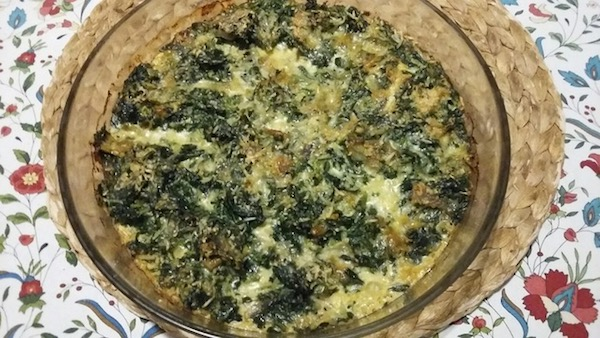 Spinach pudding, comfort food for any time.