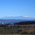 View of the Thermaic Gulf and Mt. Olympus from my living room balcony.