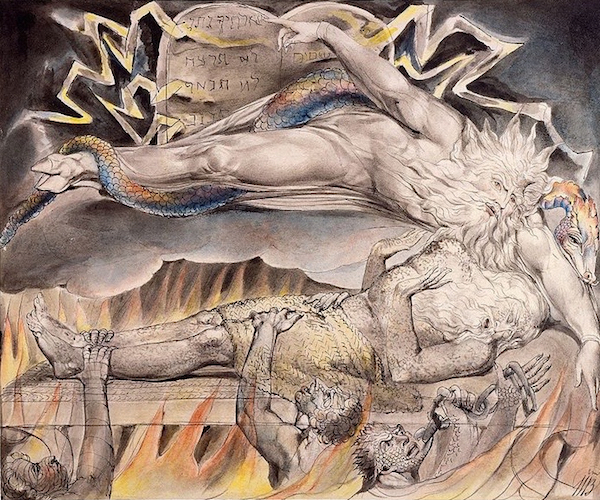 "William Blake, ""Job's Evil Dreams,"" no. 11 of the Butts Job illustrations. (Morgan Library and Museum.)"