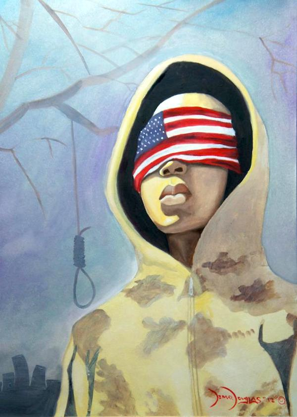 """Trayvon Martin,"" by DEMAR DOUGLAS ART – Blaqwata Studios."
