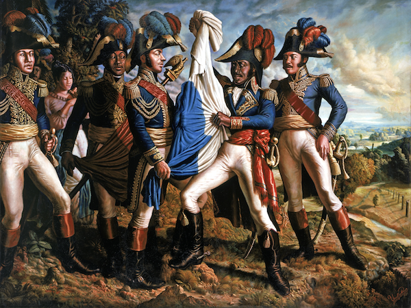"""""""Creation of the Haitian Flag,"""" by Ulrick Jean-Pierre"""