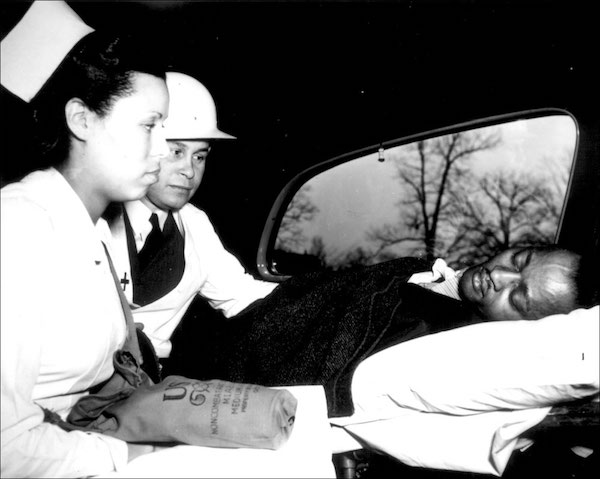 Dr. Charles Drew and nurse, with patient.