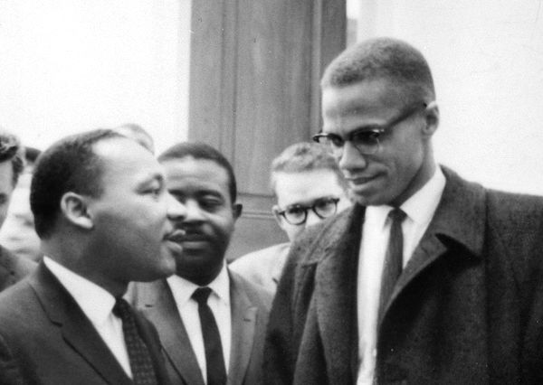 Martin Luther King, Jr. and Malcolm X.