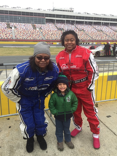 The NASCAR sisters plus small Kreeb.