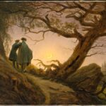 """Two Men Contemplating the Moon,"" by Caspar David Friedrich, ca. 1825–30."