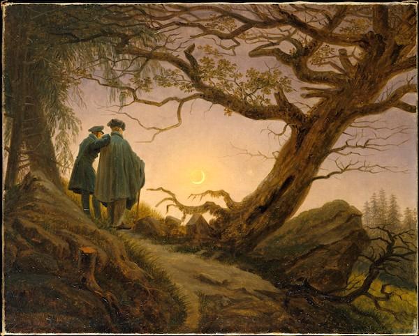 """Two Men Contemplating the Moon,"" by Caspar David Friedrich, ca. 1825–30."