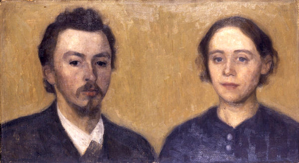 """""""Double Portrait of the Artist and his Wife,"""" by Vilhelm Hammershøi."""