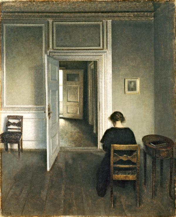 """Interior, Strandgade 30,"" by Vilhelm Hammershøi."