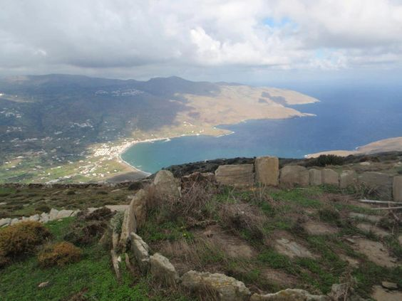 Above Korthi Bay, Andros. (Photo: Yannis Batis.)