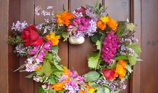 Greek May Day wreath.