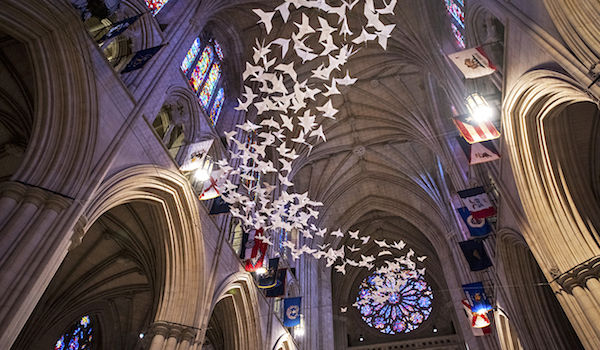 """Les Colombes,"" by Michael Pendry. (Photo: Washington National Cathedral.)"