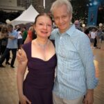 Ross and Deborah at the Lincoln Center Midsummer Night Swing.