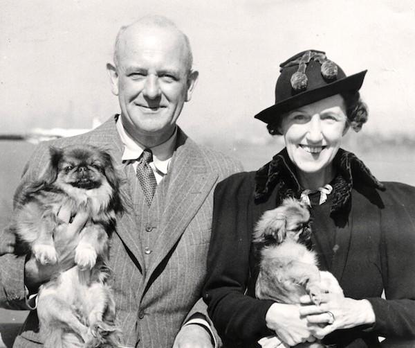 P.G. Wodehouse and Ethel May Wayman Wodehouse (née Newton), 1944. (Photo: National Portrait Gallery.)