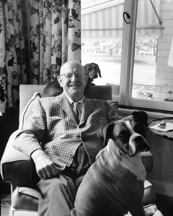 P.G. Wodehouse in 1960.[ https://www.newyorker.com/magazine/1960/10/15/plummie] (Photo: Time Life Pictures Pix Inc./The LIFE Picture Collection/Getty.)